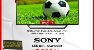 "Promo Electroplanet Smart TV SONY 55"" 7999Dhs"