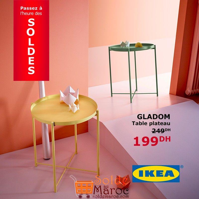 soldes ikea maroc table plateau gladom 199dhs. Black Bedroom Furniture Sets. Home Design Ideas