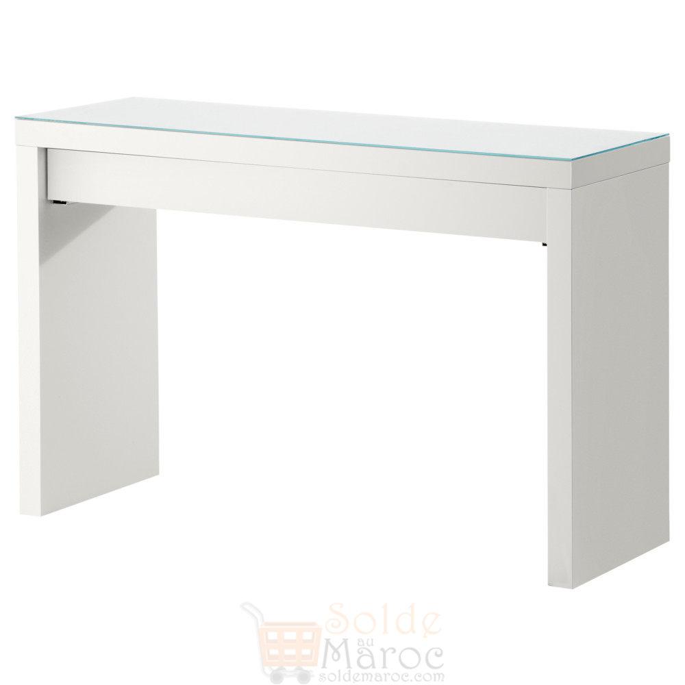 soldes ikea maroc coiffeuse blanc malm 549dhs promotion du maroc. Black Bedroom Furniture Sets. Home Design Ideas
