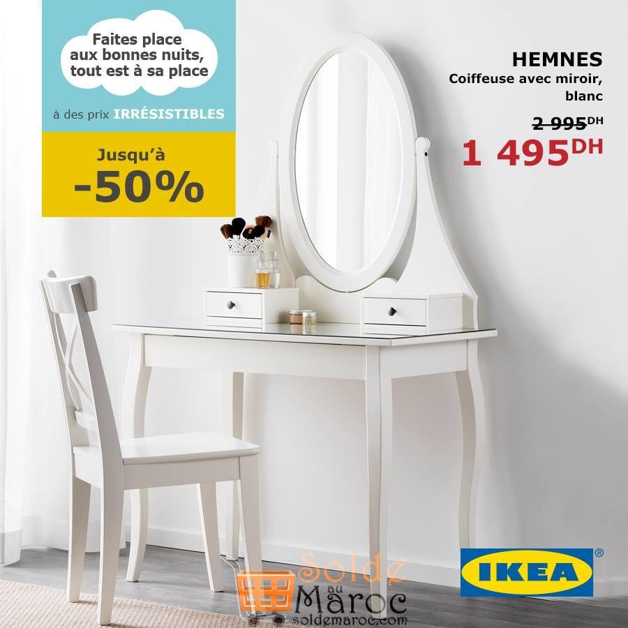 soldes ikea maroc coiffeuse avec miroir hemnes 1495dhs. Black Bedroom Furniture Sets. Home Design Ideas