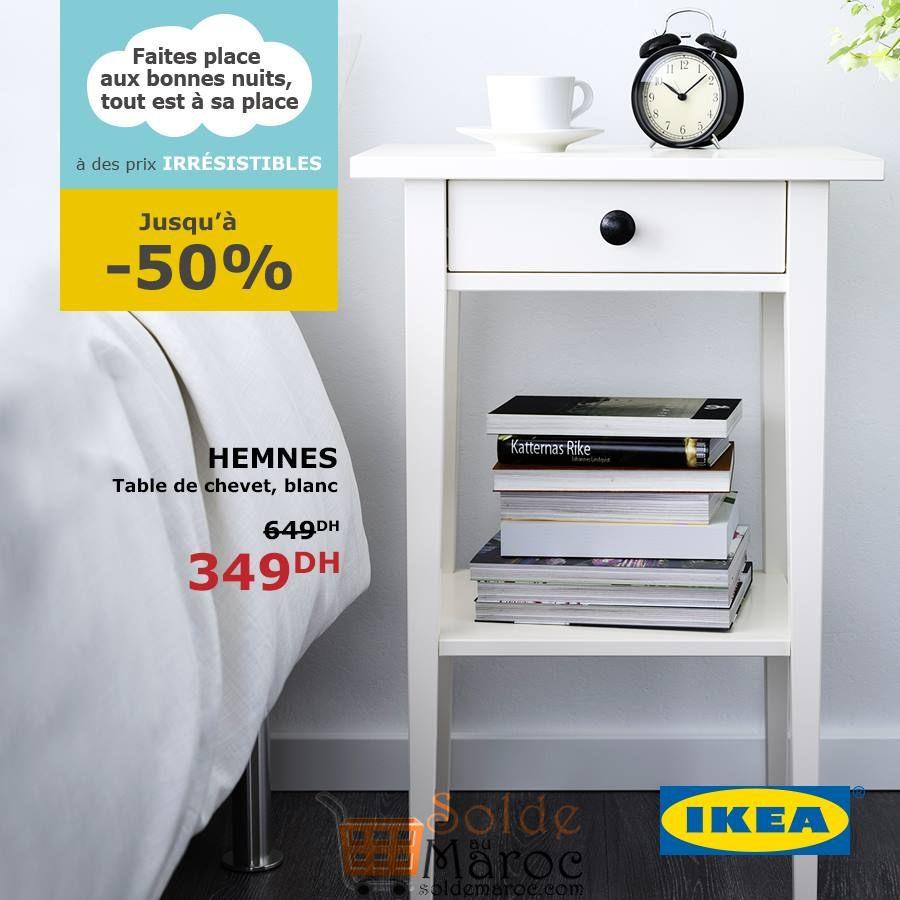 soldes ikea maroc table de chevet blanc hemnes 349dhs les soldes et promotions du maroc. Black Bedroom Furniture Sets. Home Design Ideas