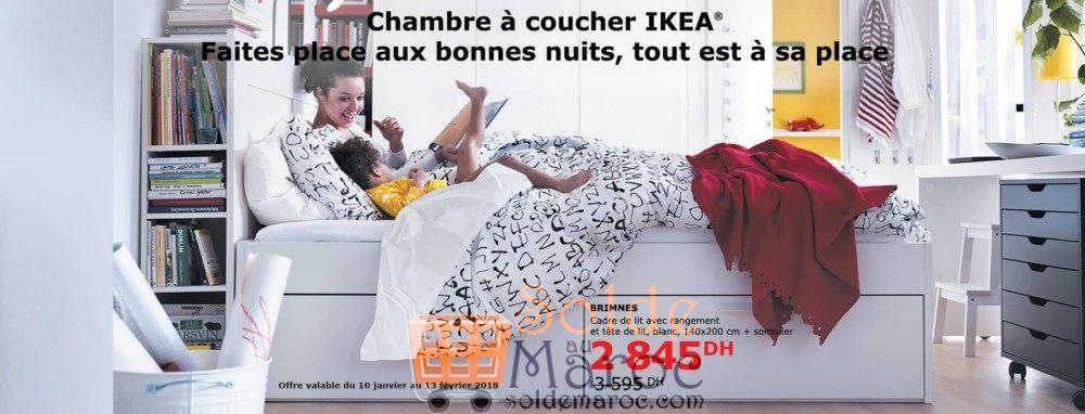 soldes ikea maroc cadre de lit avec rangement brimnes. Black Bedroom Furniture Sets. Home Design Ideas