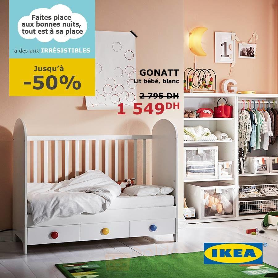 soldes ikea maroc lit b b gonatt blanc 1549dhs promotion du maroc. Black Bedroom Furniture Sets. Home Design Ideas
