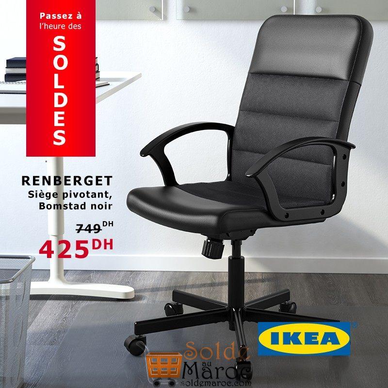 soldes ikea maroc si ge pivotant renberget 425dhs solde. Black Bedroom Furniture Sets. Home Design Ideas