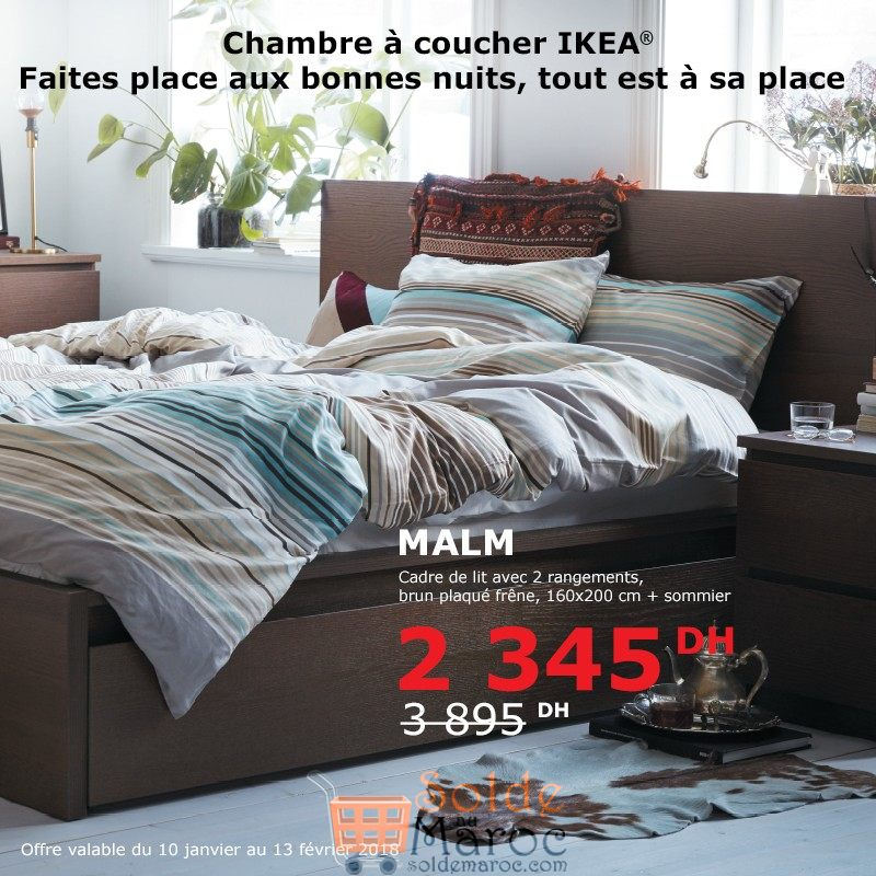 soldes ikea maroc chambre coucher malm 2345dhs. Black Bedroom Furniture Sets. Home Design Ideas
