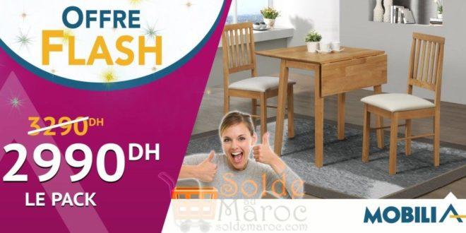 Offres flash mobilia pack salles manger 2990dhs les for Mobilia 2018 maroc