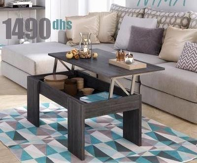 soldes azura home table basse relevable nima 1490dhs les. Black Bedroom Furniture Sets. Home Design Ideas