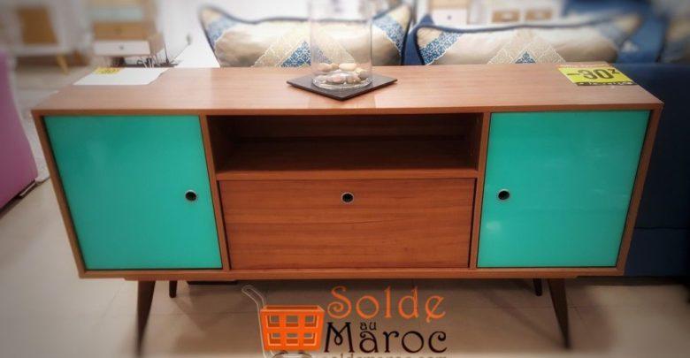 Photo of Soldes -30% Yatout Home Meuble TV Lexus Marron 1505Dhs