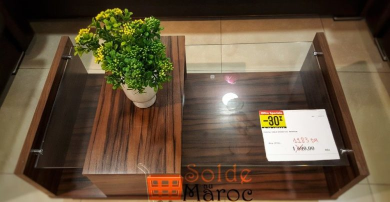 Photo of Solde Yatout Home -30% Cristal Table Basse Marron 1183Dhs