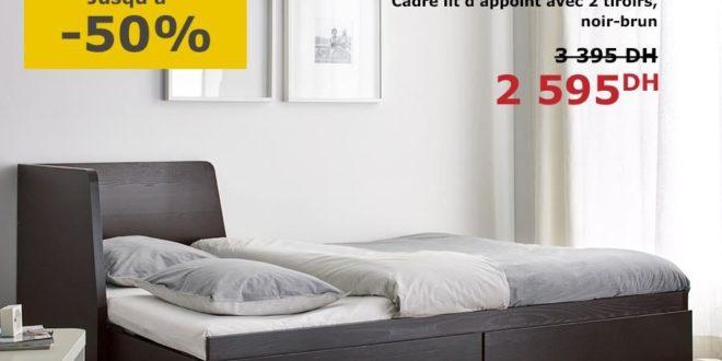 promo ikea maroc cadre lit d appoint avec 2 tiroirs 2595dhs solde et promotion du maroc. Black Bedroom Furniture Sets. Home Design Ideas