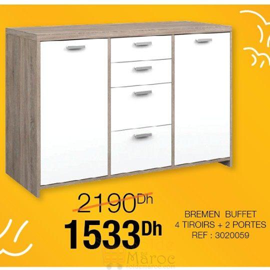 son design moderne est idal pour une salle mange ou un salon ce meuble de rangement avec ses 2 grands placards