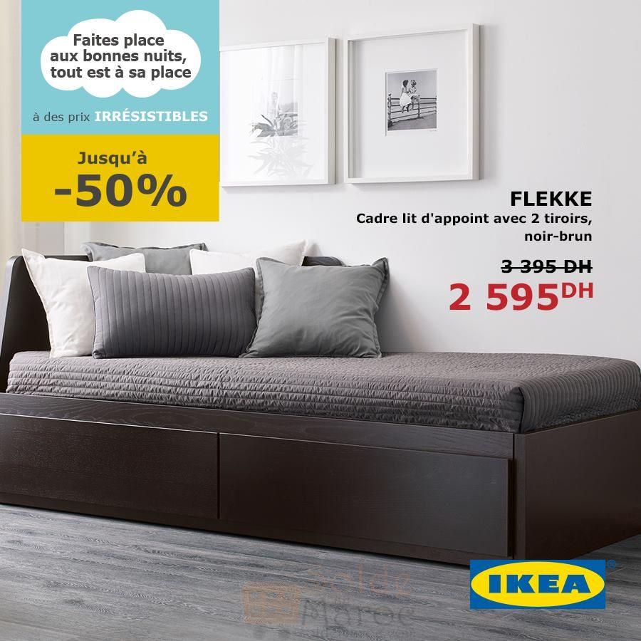 promo ikea maroc cadre lit d appoint avec 2 tiroirs 2595dhs les soldes et promotions du maroc. Black Bedroom Furniture Sets. Home Design Ideas