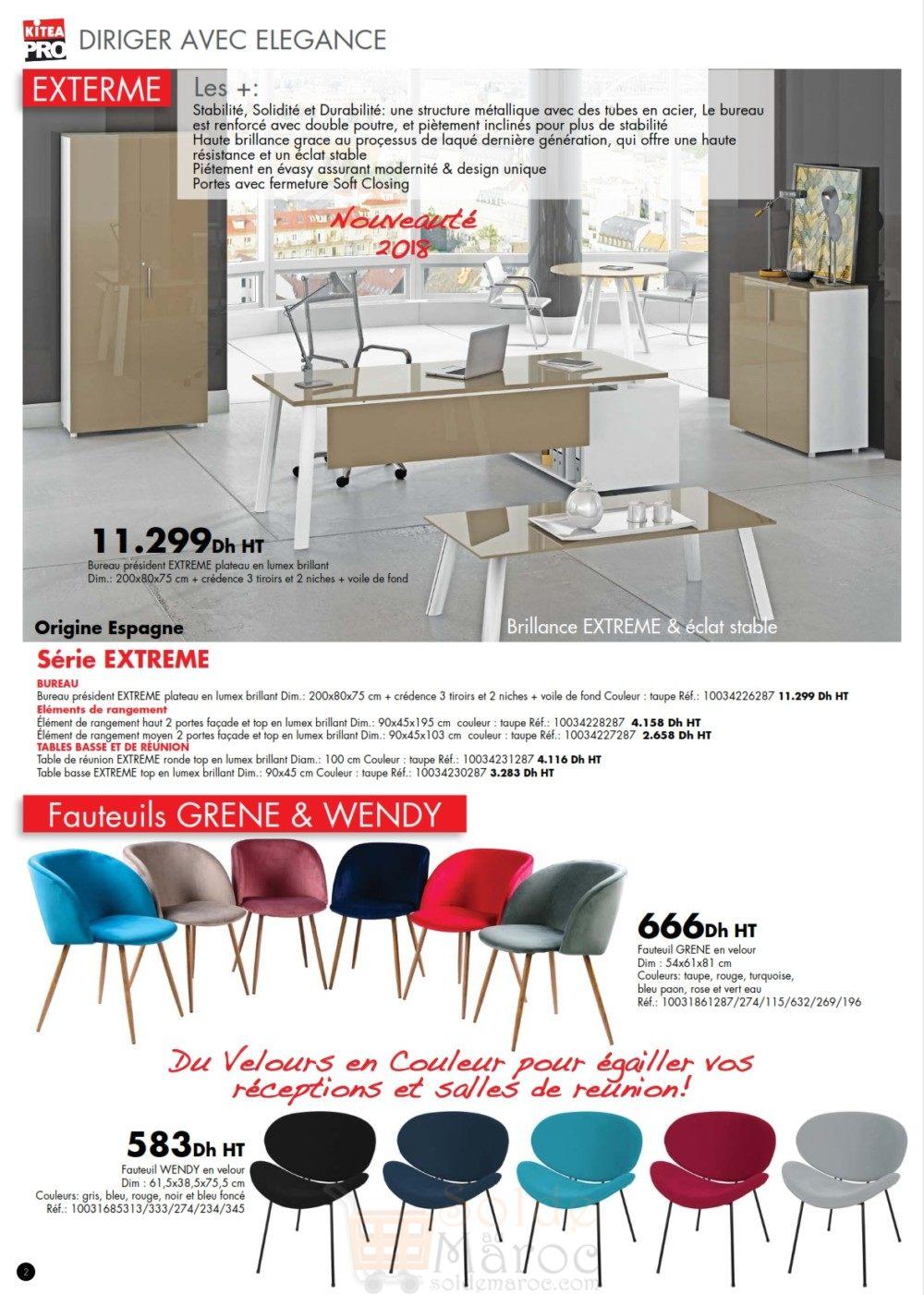 catalogue kitea mobilier professionnelle 2018 solde et promotion du maroc. Black Bedroom Furniture Sets. Home Design Ideas