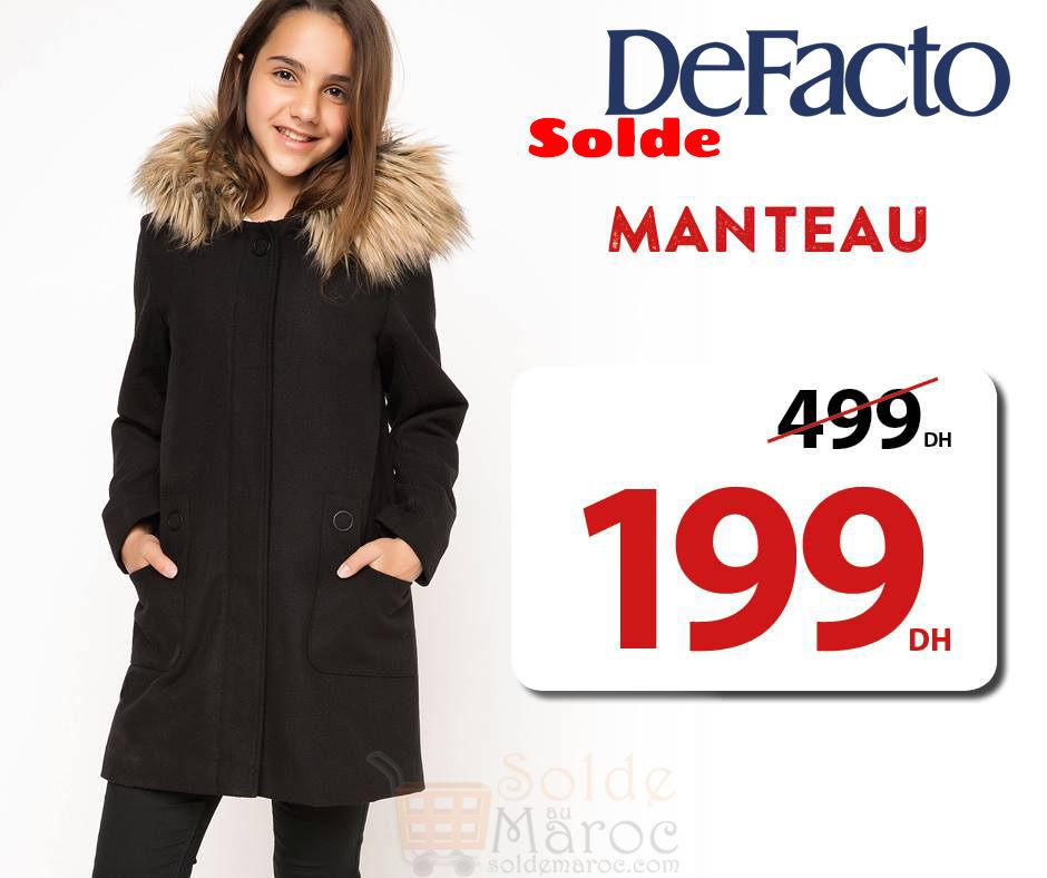 Soldes Defacto Maroc Manteau Fille 199Dhs – Solde et