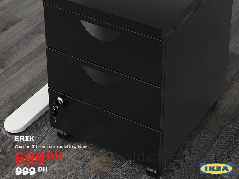 soldes ikea maroc caisson 3tiroirs sur roulettes erik 699dhs les soldes et promotions du maroc. Black Bedroom Furniture Sets. Home Design Ideas