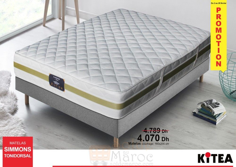promo kitea matelas simmons tonidorsal 4070dhs les soldes et promotions du maroc. Black Bedroom Furniture Sets. Home Design Ideas