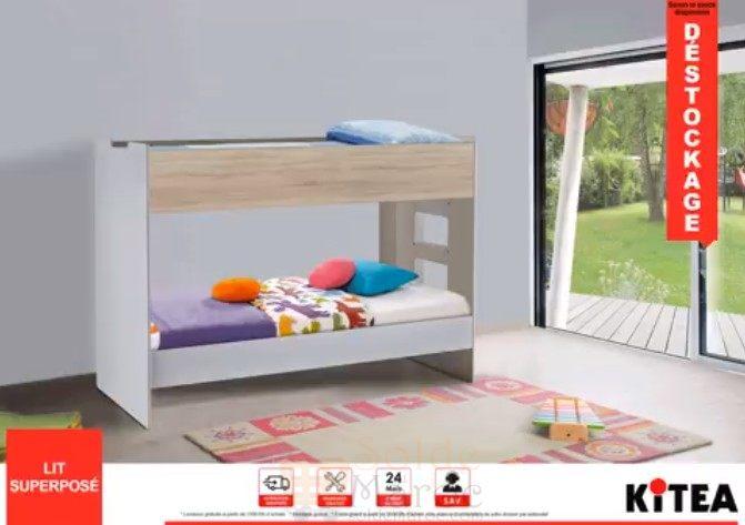 d stockage kitea lit superpos solde et promotion du maroc. Black Bedroom Furniture Sets. Home Design Ideas