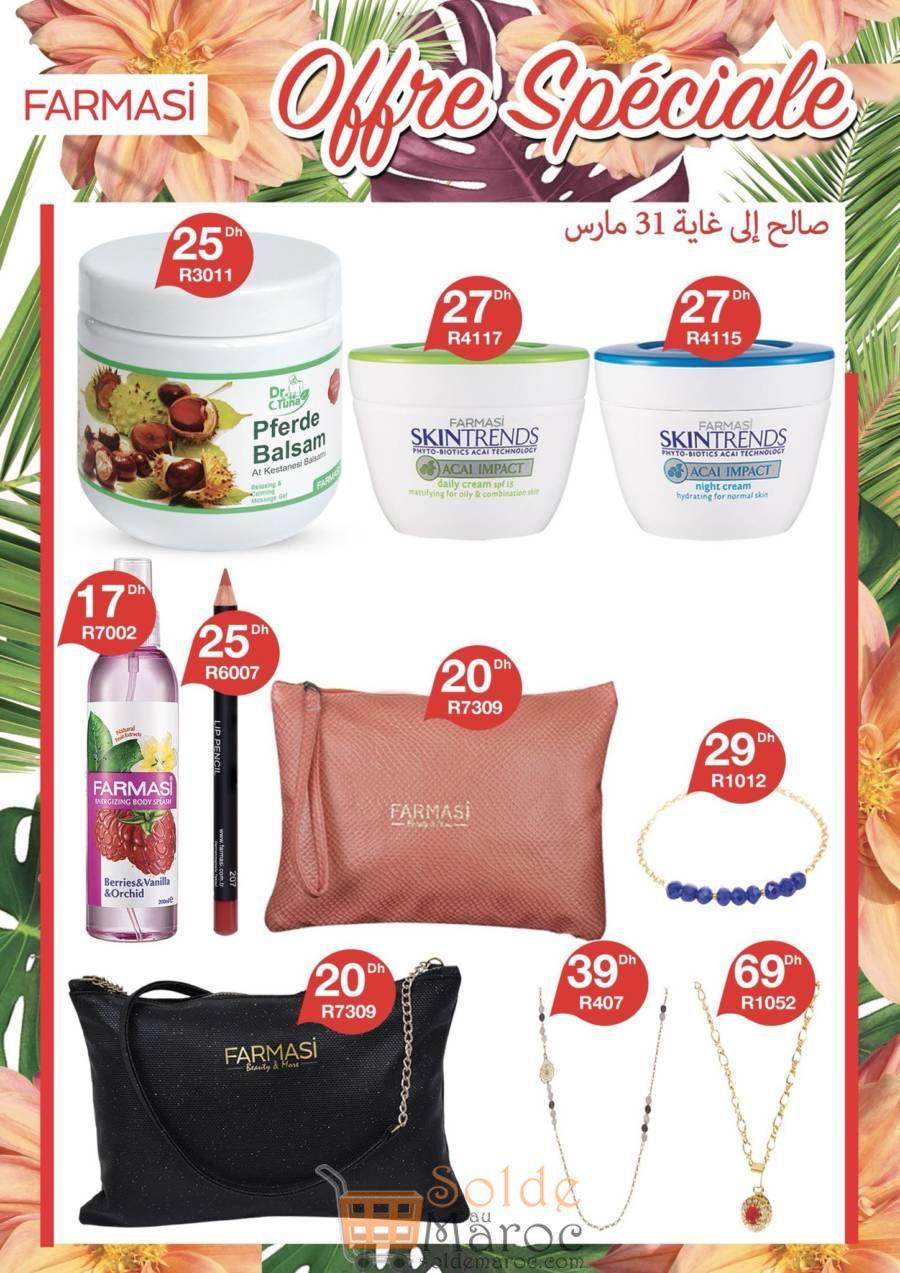 Offre Spéciale Farmasi Maroc jusq'au 31 Mars 2018