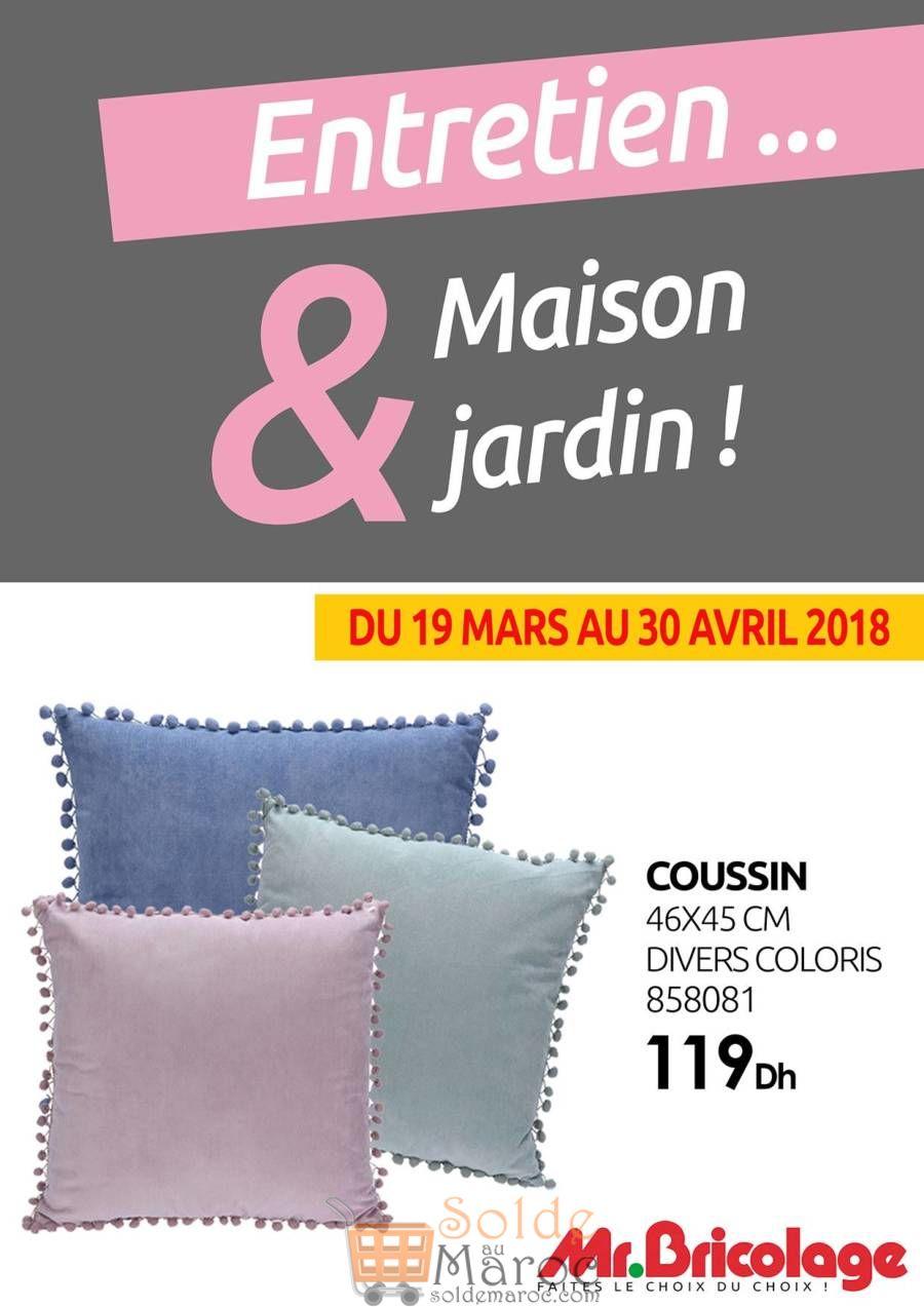 Spéciale Offre Mr Bricolage Maroc Sélection de Coussins Jusqu'au 30 Avril 2018