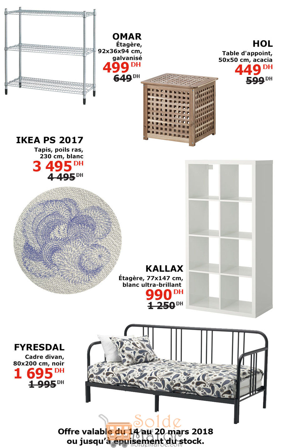 offres incroyable ikea maroc jusqu au 20 mars 2018 solde et promotion du maroc. Black Bedroom Furniture Sets. Home Design Ideas