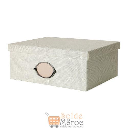 KVARNVIK-Boîte-avec-couvercle-blanc-199-DH-139-DH