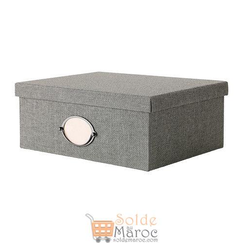 KVARNVIK Boîte avec couvercle gris 199DH au lieu de 139DH