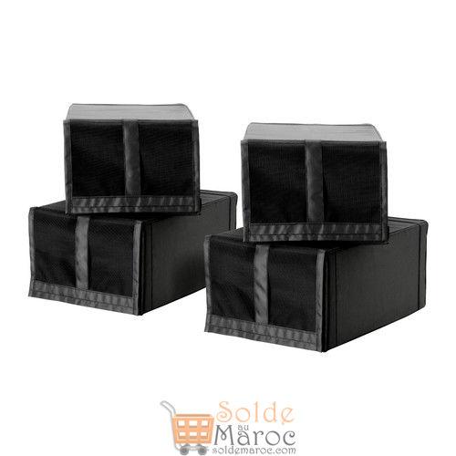 SKUBB Boîte à chaussures noir 4pièces 169DH au lieu de 139Dh