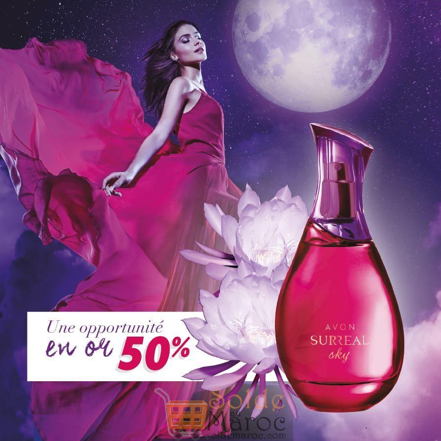 Offre extraordinaire Avon Maroc Parfum Surreal Sky -50%