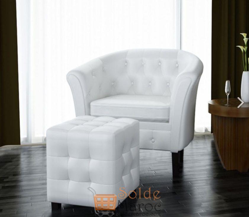 Promo Azura Home Ensemble fauteuil repose pied SUNNY 890Dhs au lieu de 1490Dhs