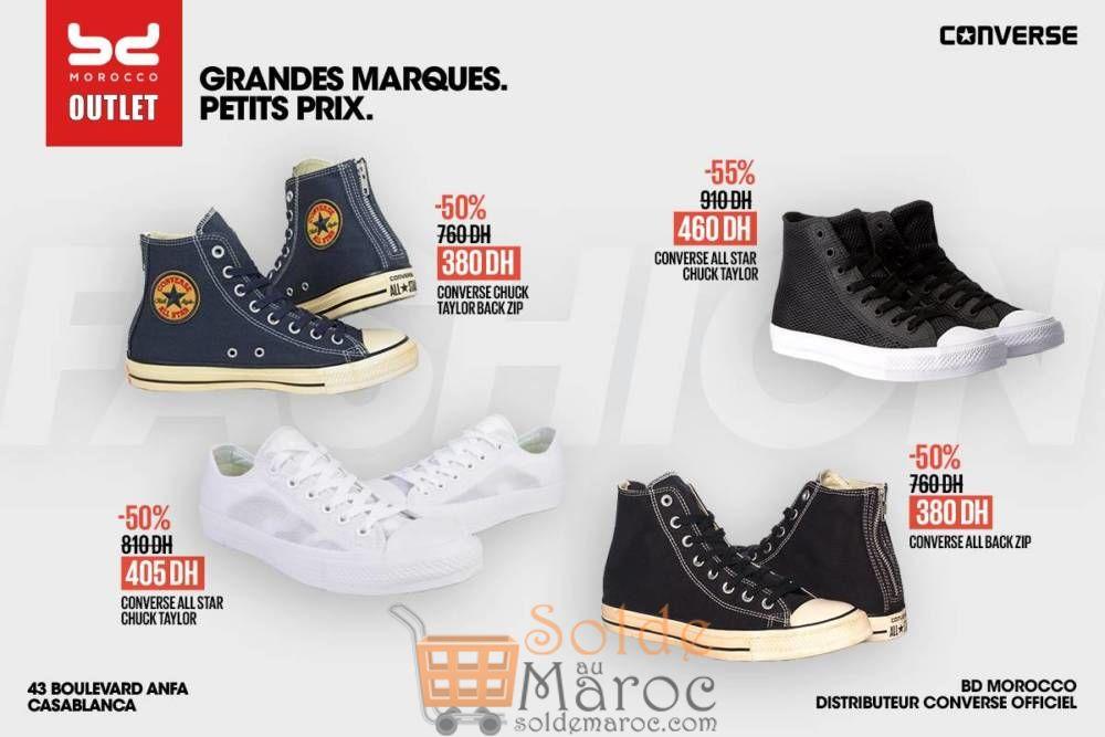 Promo BD Morocco Outlet 50% de réductions Chaussures Converse
