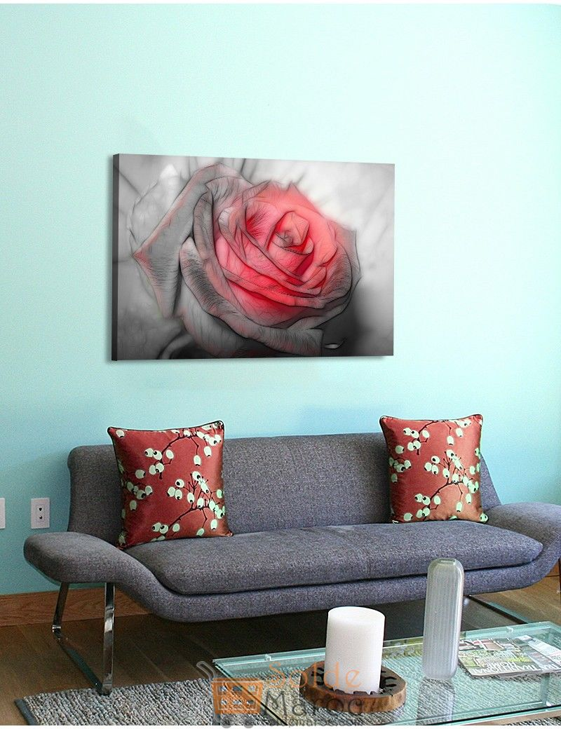 Tableau Beautiful rose drawing imprimé en HD 125Dhs