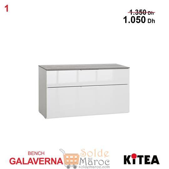 Promo Kitea Bench GALAVERNA 2tiroirs 1050Dhs au lieu de 1350Dhs