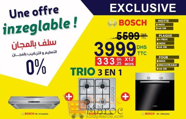 Offre Spéciale Electro Bousfiha Trio Cuisine Bosch 3999Dhs au lieu de 5599Dhs