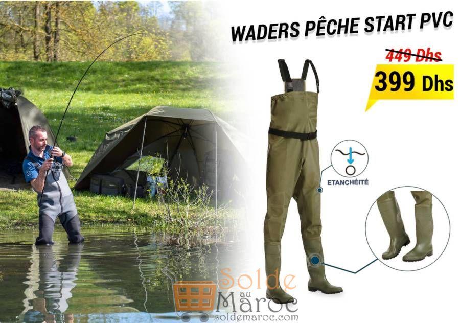 Promo Decathlon Maroc Waders pêche START PVC 399Dhs au lieu de 449Dhs