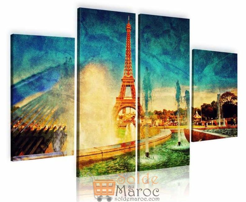 Promo Massinart Tableau décoratif Effeil tower imprimé en HD 502Dhs au lieu de 529Dhs