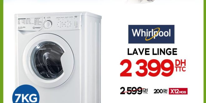 promo electroplanet machine laver whirlpool indesit 2399dhs les soldes et promotions du maroc. Black Bedroom Furniture Sets. Home Design Ideas