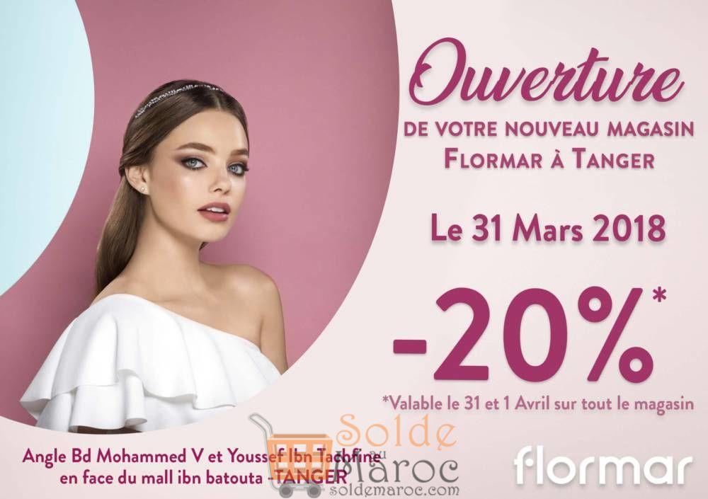 Inauguration Flormar Tanger -20% le 31 Mars et 1 Avril 2018