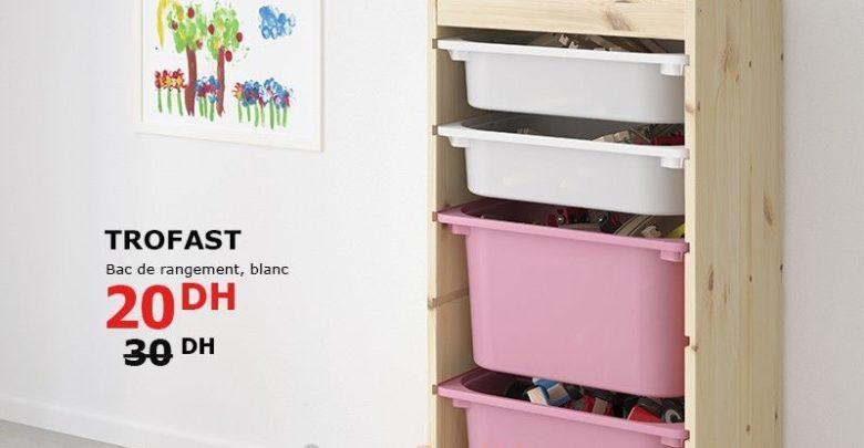 Photo of Promo Ikea Maroc Bac de Rangement TROFAST 20Dhs