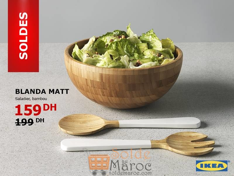 Soldes Ikea Maroc Saladier Bambou BLANDA MATT 159Dhs au lieu de 199Dhs