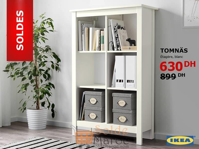 Soldes IKEA Maroc Étagères Blanc TOMNAS 630Dhs au lieu de 899Dhs