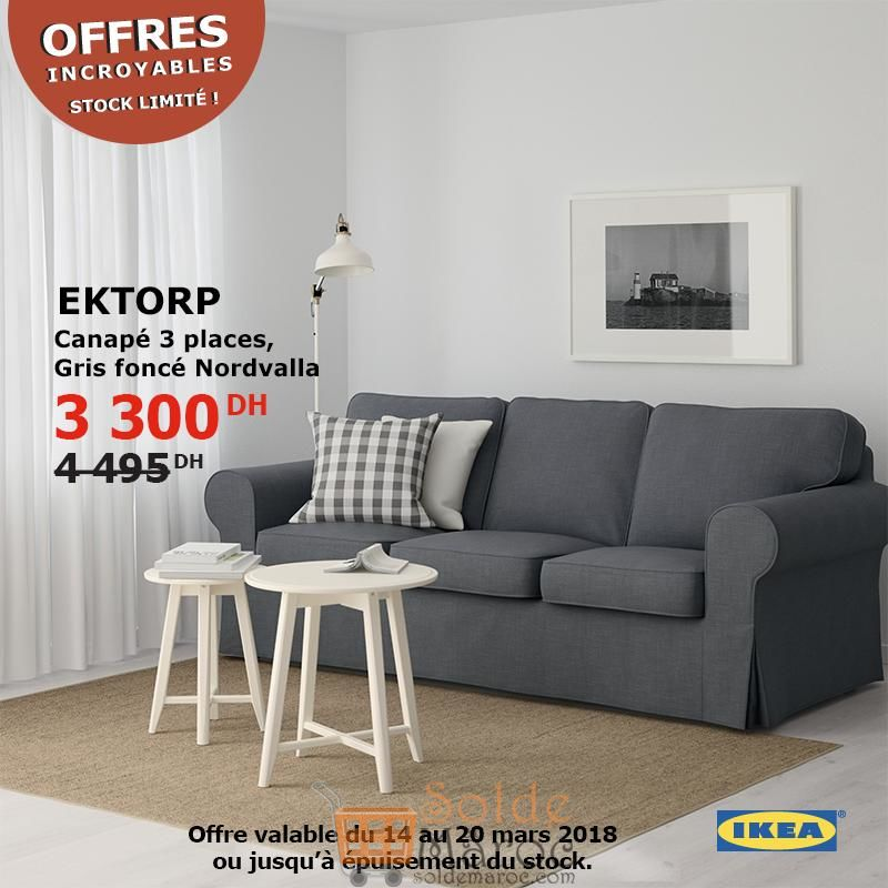 promo ikea maroc canap 3places ektorp gris fonc nordvalla 3300dhs les soldes et promotions. Black Bedroom Furniture Sets. Home Design Ideas