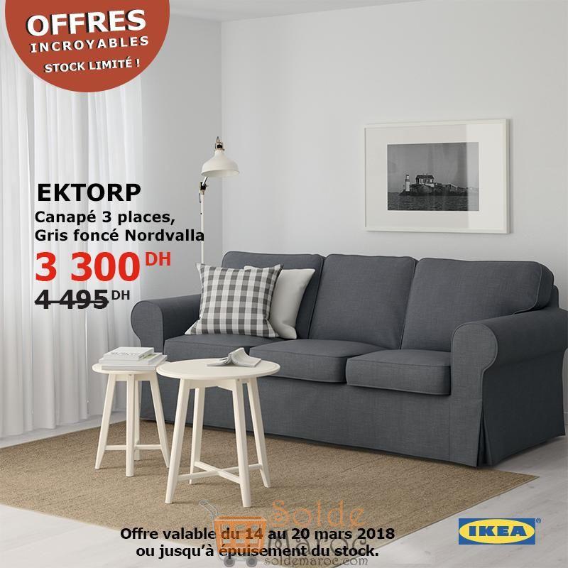 promo ikea maroc canap 3places ektorp gris fonc nordvalla 3300dhs les soldes et promotions. Black Bedroom Furniture Sets. Home Design Ideas