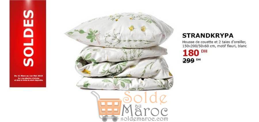 soldes ikea maroc housse de couette et 2 taies d oreiller motif fleur 180dhs promotion du maroc. Black Bedroom Furniture Sets. Home Design Ideas