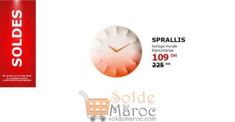 Photo of Soldes Ikea Maroc Horloge Murale SPRALLIS 109Dhs