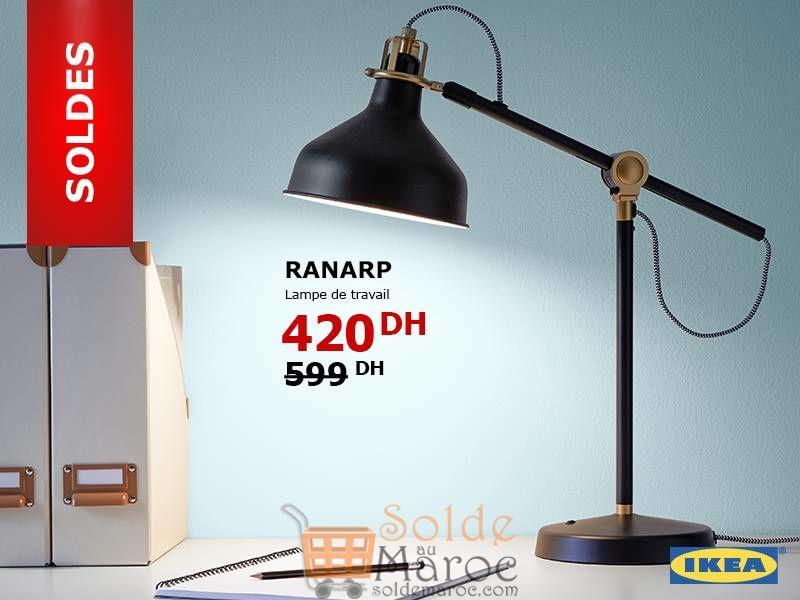 Soldes Ikea Maroc Lampe de bureau RANARP 420Dhs au lieu de 599Dhs