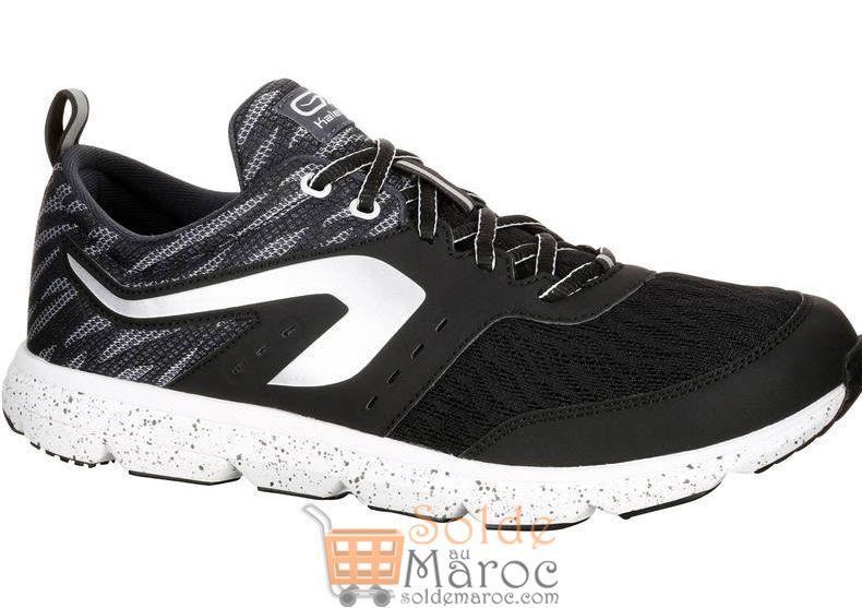 Promo Decathlon Chaussure Course A Pied Homme Run Eliorun Noir 349 Dhs