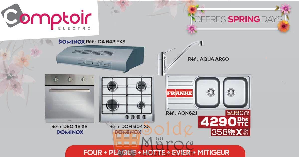 Promo Le Comptoir Electro SUPER PACK spécial cuisine Four Plaque Hotte Evier et Mitigeur