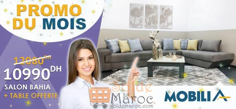 Offre irrésistible chez Mobilia Salon Bahia + table 10990DHs