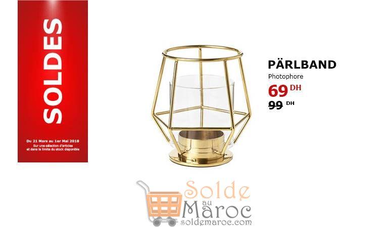 Soldes Ikea Maroc Photophore PARLBAND 69Dhs au lieu de 99Dhs