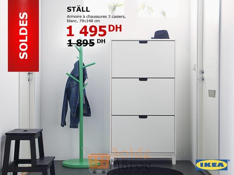 Soldes Ikea Maroc Armoire à chaussures STALL 1495Dhs au lieu de 1895Dhs